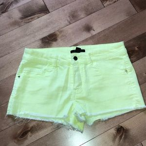 ⭐️2/20$! Forever 21 neon yellow shorts